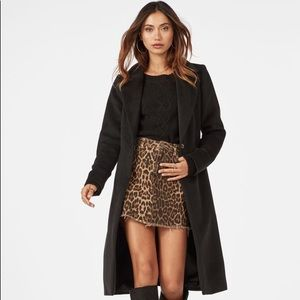 NEVER worn, tags attached. Belted wool coat
